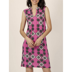 Textiel Dames Korte jurken Admas Mouwloze zomerjurk Art Deco fuchsia Granaat