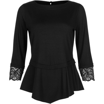 Textiel Dames Tops / Blousjes Lisca Driekwart mouw topje Impressief zwart Parelmoer Zwart