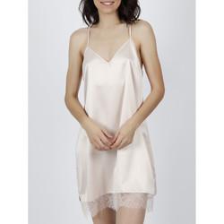 Textiel Dames Pyjama's / nachthemden Admas Babydoll Navy en zwarte ivoorkleurige Adma's Geel