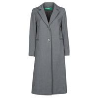 Textiel Dames Mantel jassen Benetton  Grijs