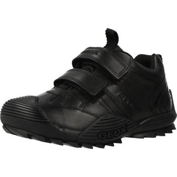 Schoenen Meisjes Laarzen Geox JR SAVAGE Zwart