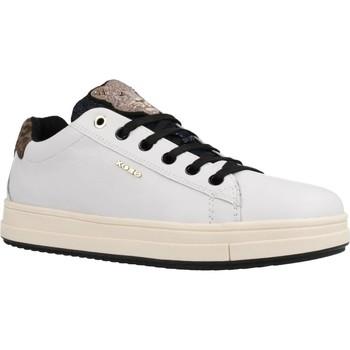 Schoenen Meisjes Lage sneakers Geox J REBECCA GIRL Wit