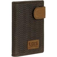 Tassen Heren Portefeuilles Lois DAVIDSON Lederen Portemonnee voor heren Bruine