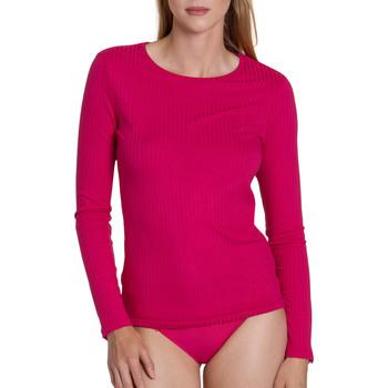 Textiel Dames Tops / Blousjes Lisca Geniet van  Cheek topje met lange mouwen Marine/oranjeanje