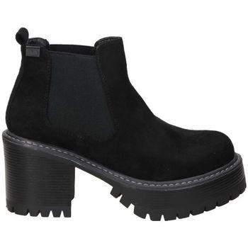Schoenen Dames Enkellaarzen Emmshu BOTINES  HEAT MODA JOVEN BLACK Noir
