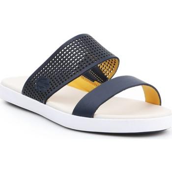 Schoenen Dames Leren slippers Lacoste Natoy Slide 7-31CAW0133326 navy