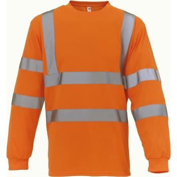 Textiel T-shirts met lange mouwen Yoko T-Shirt manches longues  Haute Visibilité orange