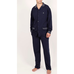 Textiel Heren Pyjama's / nachthemden Admas For Men Homewear pyjamabroek shirt Mazarine Admas Blauw Marine