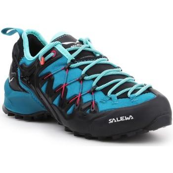 Schoenen Dames Wandelschoenen Salewa WS Wildfire Edge 61347-8736 blue, black