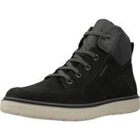 Schoenen Jongens Laarzen Geox J RIDDOCK BOY WPF Zwart