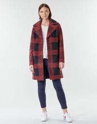 Textiel Dames Mantel jassen Only ONLVICKI Rood / Zwart