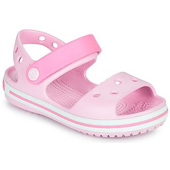 Schoenen Meisjes Sandalen / Open schoenen Crocs CROCBAND SANDAL KIDS Roze