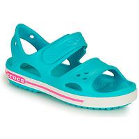 Schoenen Meisjes Sandalen / Open schoenen Crocs CROCBAND II SANDAL PS Blauw / Roze