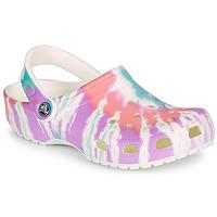 Schoenen Dames Klompen Crocs CLASSIC TIE DYE GRAPHIC CLOG Multicolour