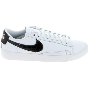 Schoenen Heren Lage sneakers Nike Blazer Low Blanc Noir BQ0033-100 Wit