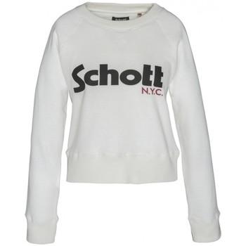 Textiel Dames Sweaters / Sweatshirts Schott Sweatshirt SW GINGER 1 W Blanc Wit