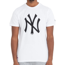 Textiel Heren T-shirts korte mouwen New-Era New York Yankees Team Logo Tee Weiss