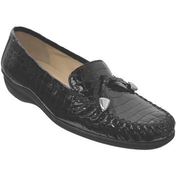 Schoenen Dames Mocassins Marco MAXOU Zwart leer
