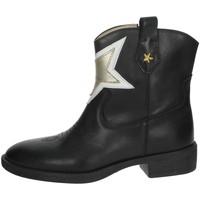 Schoenen Meisjes Laarzen Florens F8503 Black/Gold