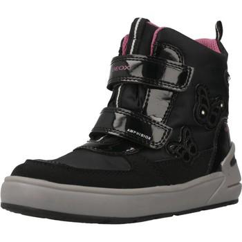 Schoenen Meisjes Hoge sneakers Geox J SLEIGH GIRL Zwart