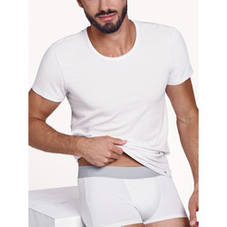 Textiel Heren T-shirts korte mouwen Lisca Hercules  Heren Korte Mouw T-Shirt Wit