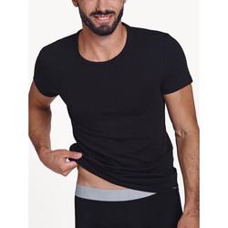 Textiel Heren T-shirts korte mouwen Lisca Hercules  Heren Korte Mouw T-Shirt Parelmoer Zwart