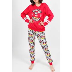 Textiel Dames Pyjama's / nachthemden Admas Binnenpak pyjamabroek Mickey Basic rood Zand
