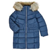 Textiel Meisjes Dons gevoerde jassen Tommy Hilfiger KG0KG05397-C87-C Marine