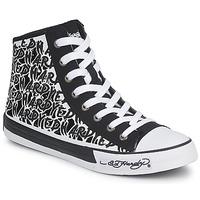 Schoenen Dames Hoge sneakers Ed Hardy RESOUDRE Zwart / Wit