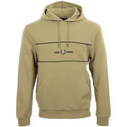 Textiel Heren Sweaters / Sweatshirts Fred Perry Embroidered Panel Hooded Sweatshirt Bruin