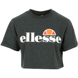 Textiel Dames T-shirts korte mouwen Ellesse Alberta Crop T-Shirt Grijs