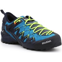 Schoenen Heren Wandelschoenen Salewa MS Wildfire Edge 61346-3988 blue, black, yellow