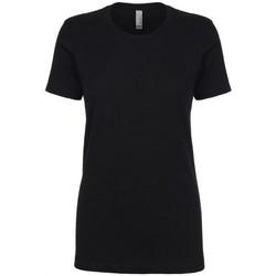 Textiel Dames T-shirts korte mouwen Next Level NX3900 Zwart