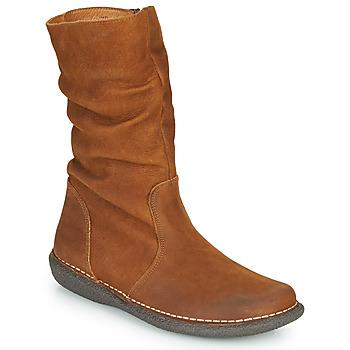Schoenen Dames Laarzen Casual Attitude NIELOO Camel