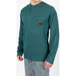 Textiel Heren Pyjama's / nachthemden Admas For Men Homewear pyjamabroek LouLou Britse groene Adma's Donkergroen