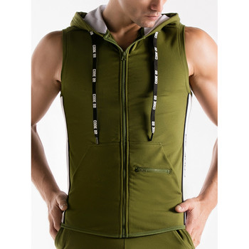 Textiel Heren Trainings jassen Code 22 Mouwloos jack met capuchon Duwkracht Code22 Lavendel