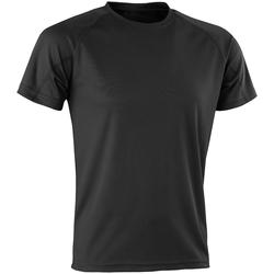 Textiel Heren T-shirts korte mouwen Spiro SR287 Zwart