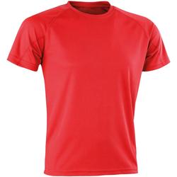Textiel Heren T-shirts korte mouwen Spiro SR287 Rood