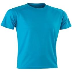 Textiel Heren T-shirts korte mouwen Spiro SR287 Oceaan Blauw