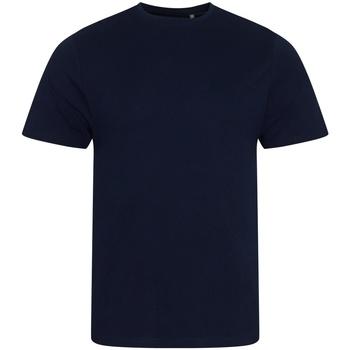Textiel Heren T-shirts korte mouwen Ecologie EA001 Marine