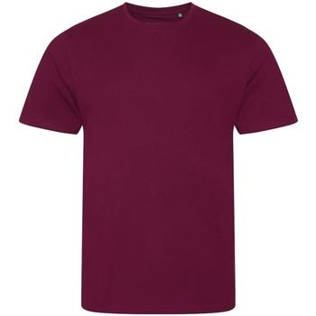 Textiel Heren T-shirts korte mouwen Ecologie EA001 Bourgondië
