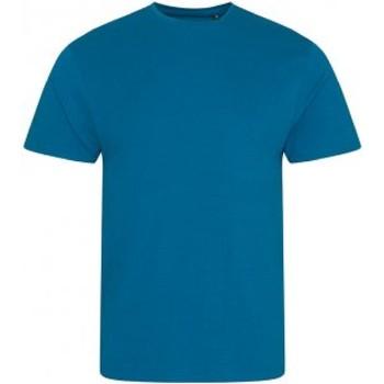 Textiel Heren T-shirts korte mouwen Ecologie EA001 Inkt Blauw