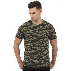 Textiel Heren T-shirts korte mouwen Awdis JT034 Groene Camo