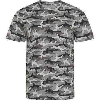 Textiel Heren T-shirts korte mouwen Awdis JT034 Grijze Camo