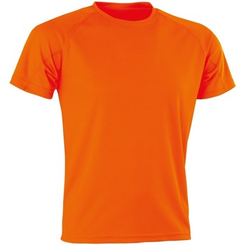 Textiel Heren T-shirts korte mouwen Spiro SR287 Flo Oranje