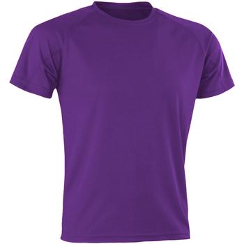 Textiel Heren T-shirts korte mouwen Spiro SR287 Paars