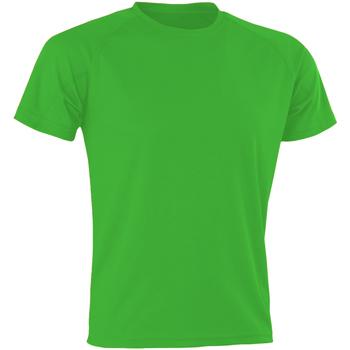 Textiel Heren T-shirts korte mouwen Spiro SR287 Flo Green