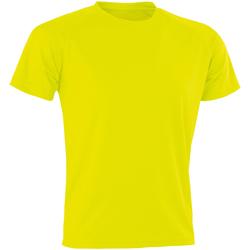 Textiel Heren T-shirts korte mouwen Spiro SR287 Flo Geel