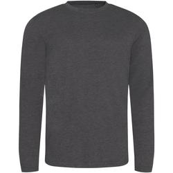 Textiel Heren T-shirts met lange mouwen Awdis JT002 Heide Houtskool