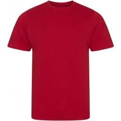 Textiel Heren T-shirts korte mouwen Ecologie EA001 Vuurrood